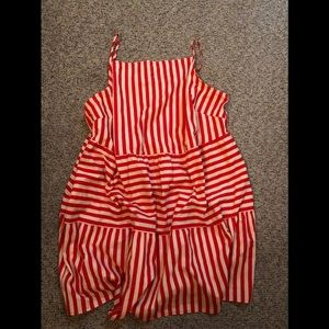 Easy summer dress, classic red stripe